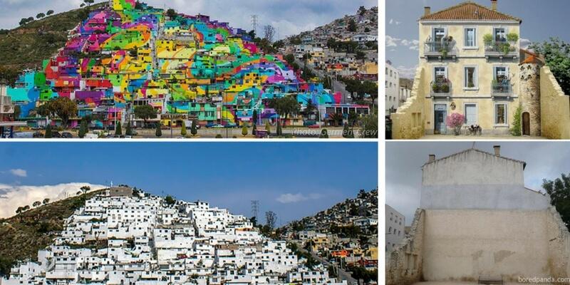 Prima e dopo la street art, i murales che cambiano i volti della città