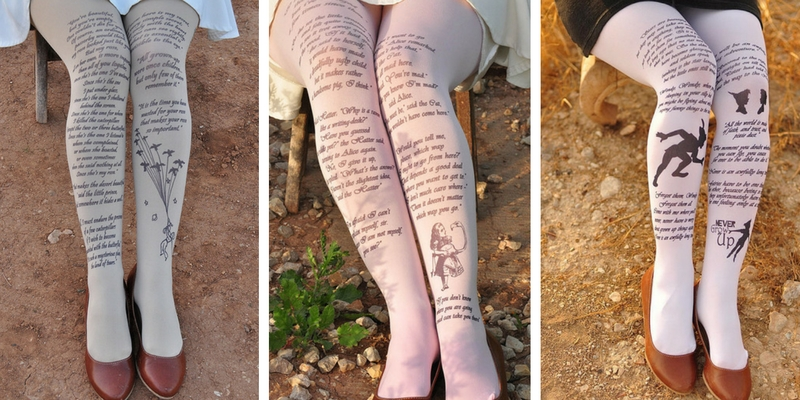 La letteratura non passa mai di moda, ecco le calze per le donne che amano i libri