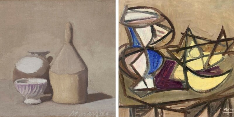 Le opere di Giorgio Morandi a confronto con altri artisti