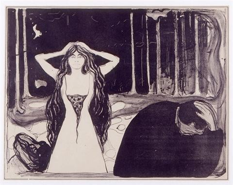 Edvard Munch (Løten, Norvegia, 1863 – Ekely, Norvegia, 1944) La vanità, 1899 Litografia Ca' Pesaro - Galleria Internazionale d'Arte Moderna, Fondazione Musei Civici di Venezia