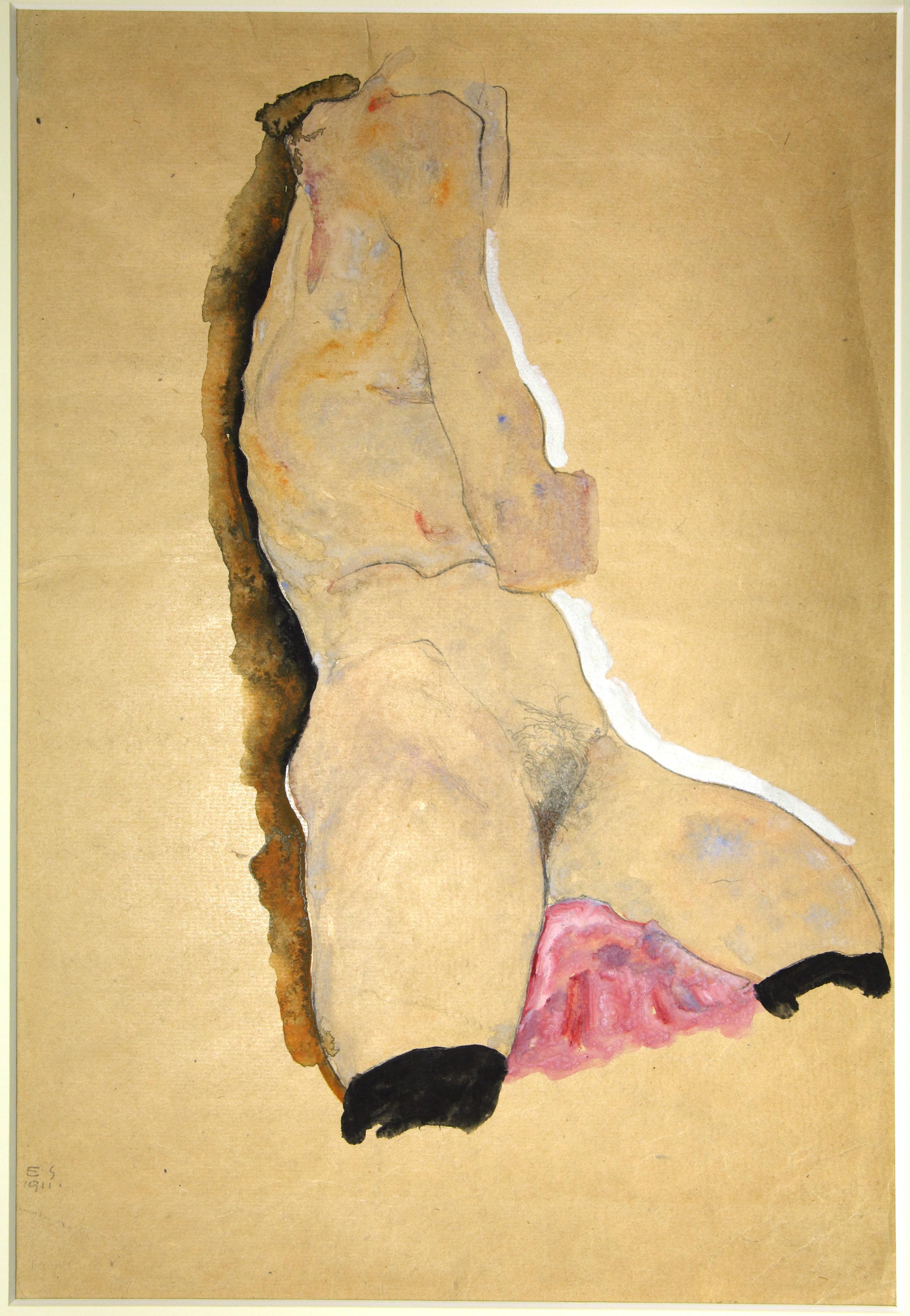 Egon Schiele (Tulln, Austria, 1890- Vienna, 1918) Nudo (Torso femminile), 1911 Matita e acquerello su carta Collezione privata in deposito presso la Fondazione Musei Civici di Venezia, Ca' Pesaro - Galleria Internazionale d'Arte Moderna