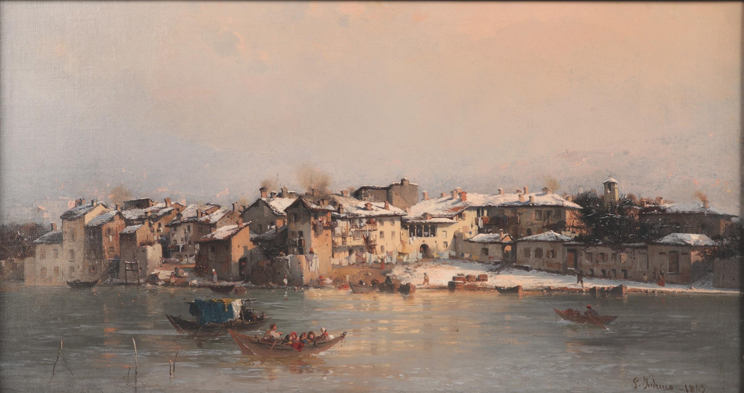 Pescarenico d'inverno - Induno G.
