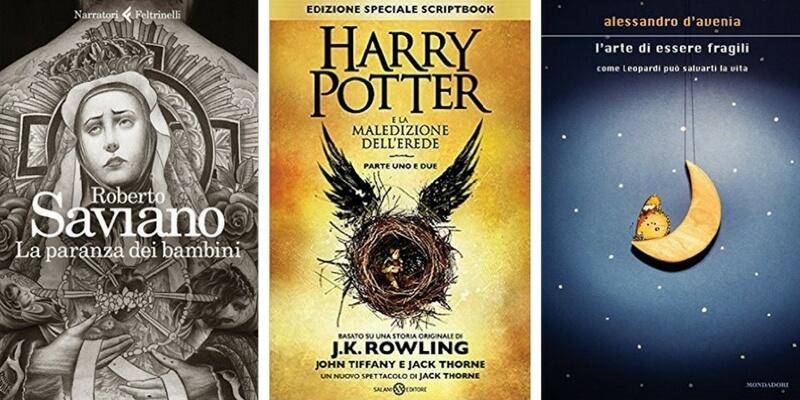 """I """"paranzini"""" di Roberto Saviano al primo post, Harry Potter torna davanti a D'Avenia"""