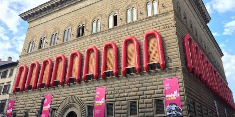 Palazzo Strozzi e Mercato Coperto con Ai Weiwei per i diritti umani