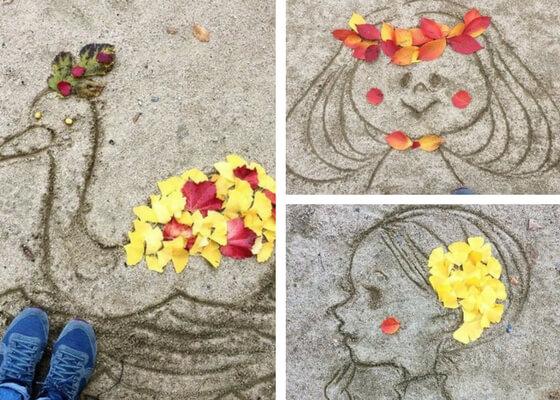 Sabbia e foglie