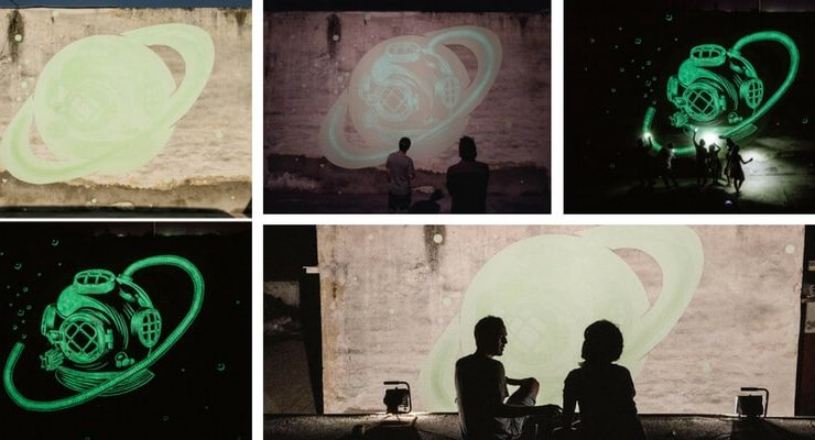 Ecco i magici murales che s'illuminano al buio