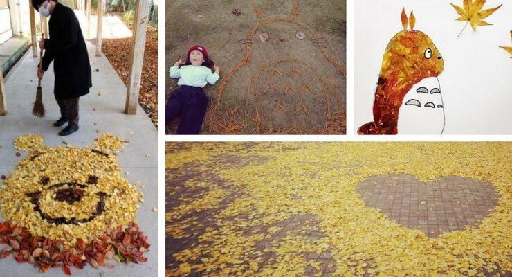 Ochiba Art, le foglie che diventano arte