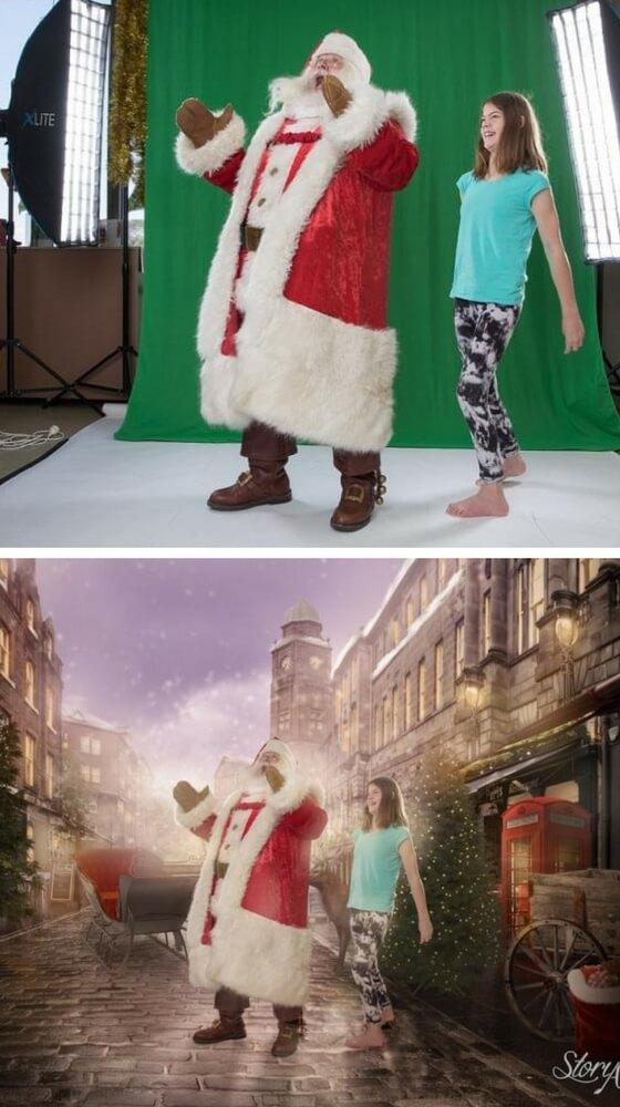 Shanae e Babbo Natale