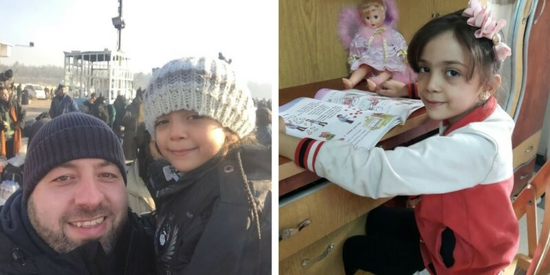 """Salva Bana Alabed, la bambina di Aleppo che leggeva """"per dimenticare la guerra"""""""