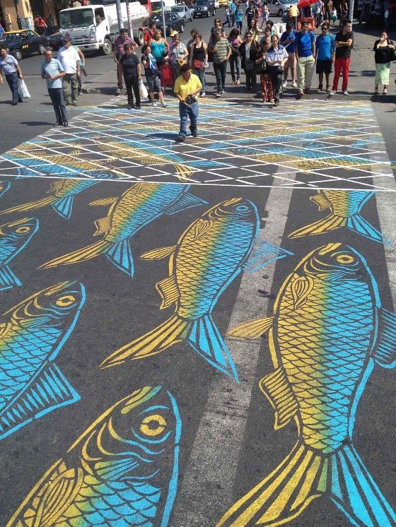 L'arte di Roadsworth: le opere nascoste nella città