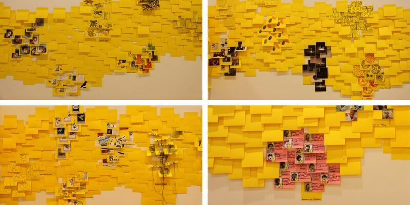 """GenerAction"", a Gallarate una mostra d'arte fatta di post-it"