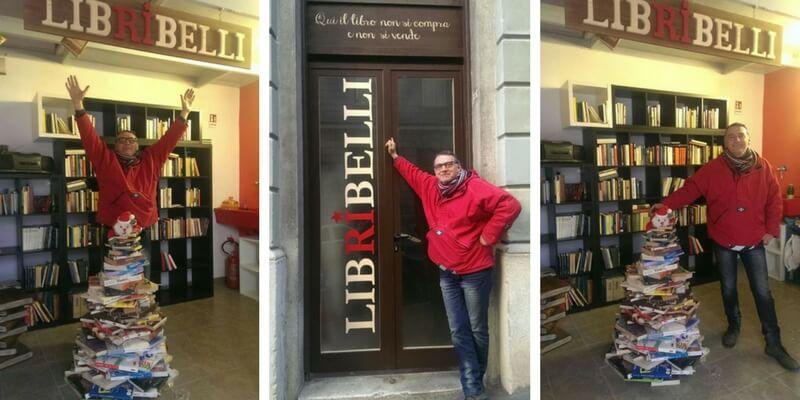 La storia dell'uomo che apre la libreria, non per vendere ma per regalare i libri