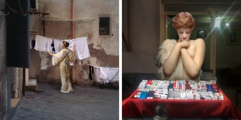I classici della storia dell'arte invadono le strade di Napoli