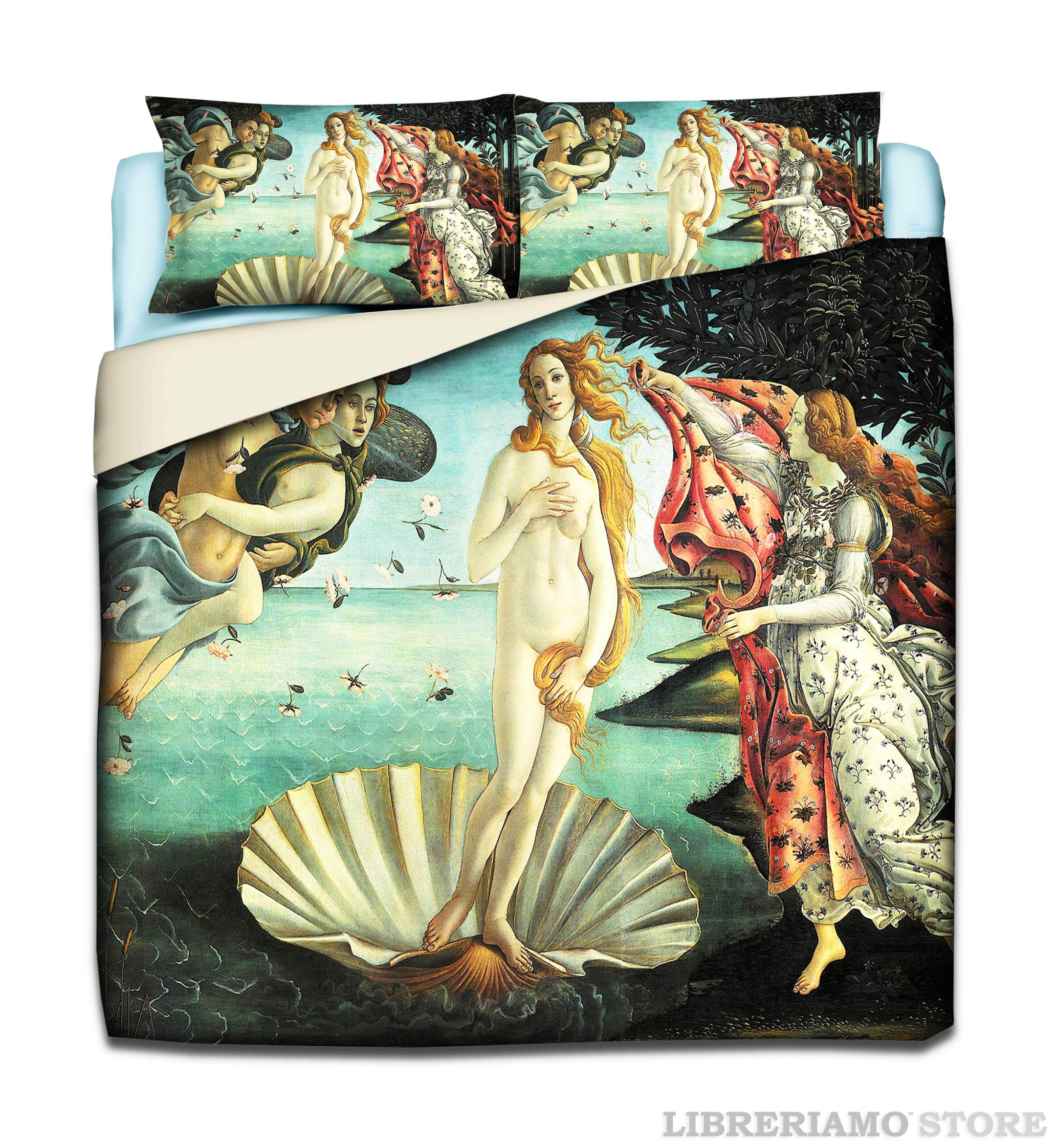"""""""Nascita di Venere"""" - Sandro Botticelli - Parure Copripiumino"""