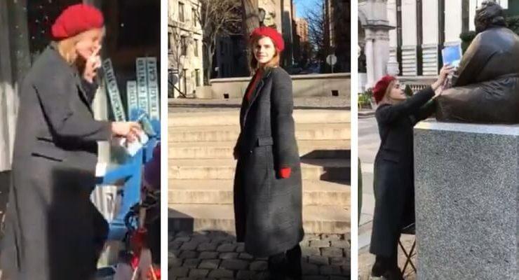 L'attrice Emma Watson è tornata, ora distribuisce libri per New York