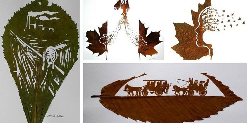 Omid Asadi, l'artista che trasforma le foglie morte in opere d'arte