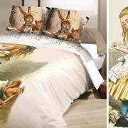 Arrivano le lenzuola ispirate ad Alice nel Paese delle Meraviglie per un arredamento da favola