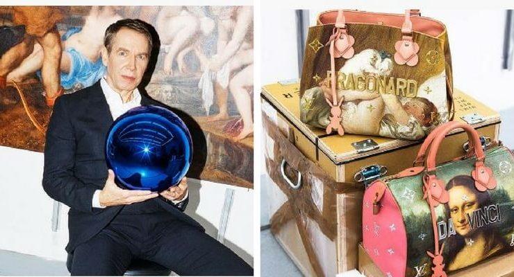Louis Vuitton e Jeff Koons lanciano una linea di borse ispirata all'Arte