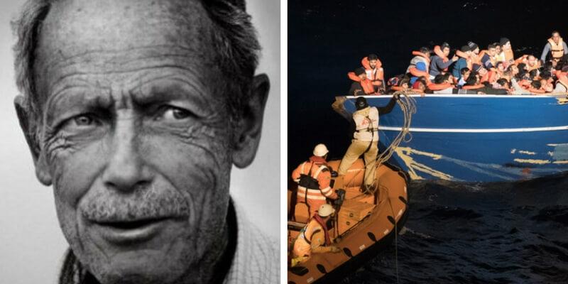 """Migranti, il reportage di Erri De Luca a bordo della """"nave che pesca gli uomini"""""""