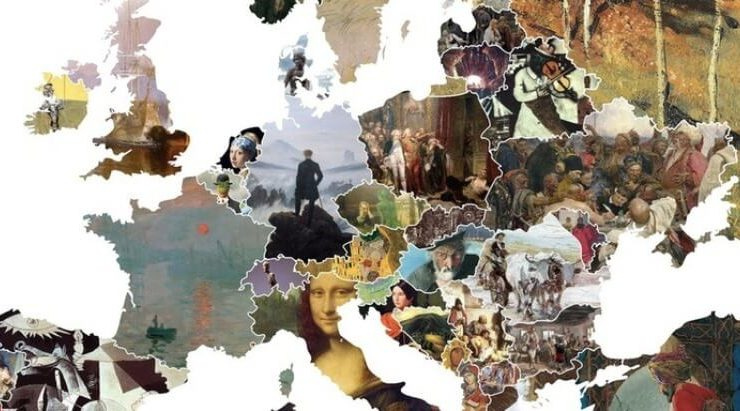 Arriva la mappa europea dell'arte, ogni stato ha la sua opera d'arte