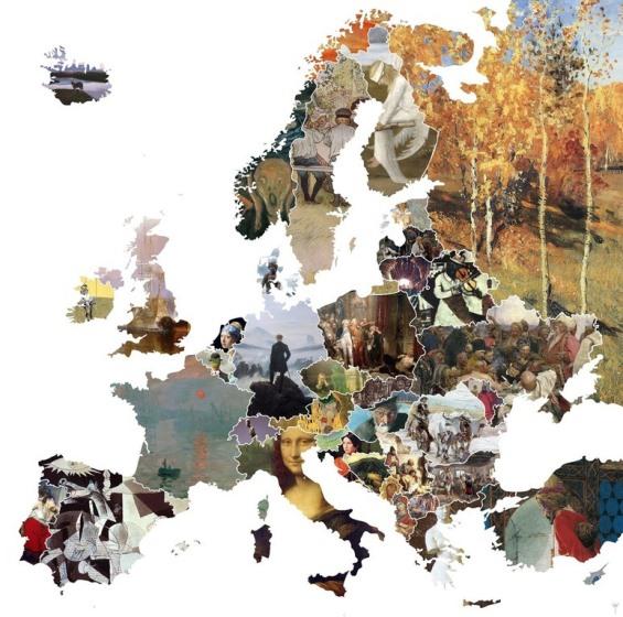 la mappa europea dell'arte