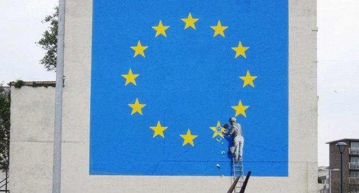 E' sulla Brexit il nuovo murales provocatorio di Banksy