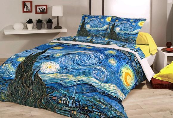 """Notte Stellata"" - Vincent Van Gogh - Parure Copripiumino"