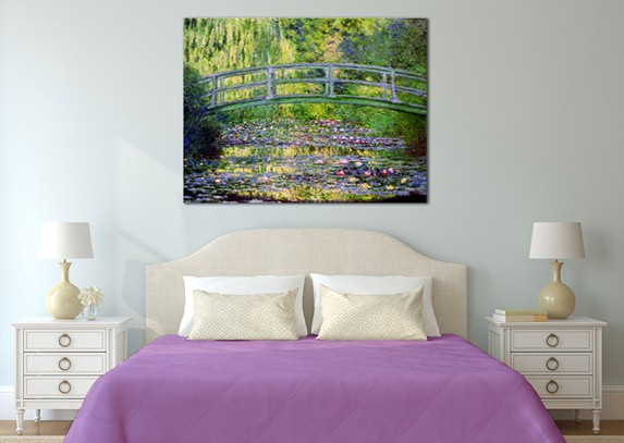 """Ponte giapponese"" - Claude Monet - Tela Arredo"