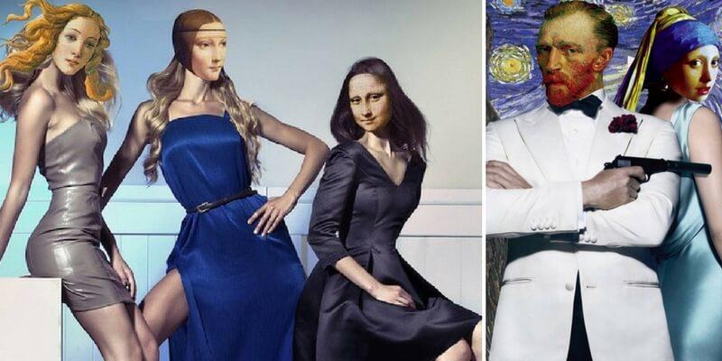 Van Gogh e la Monnalisa diventano icone pop contemporanee
