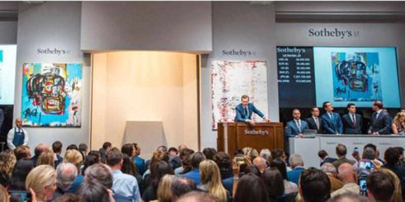 Opera di Basquiat venduta all'asta per 110 milioni di dollari
