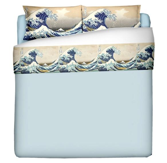 """La grande onda"" - Katsushika Hokusai - Parure lenzuola"