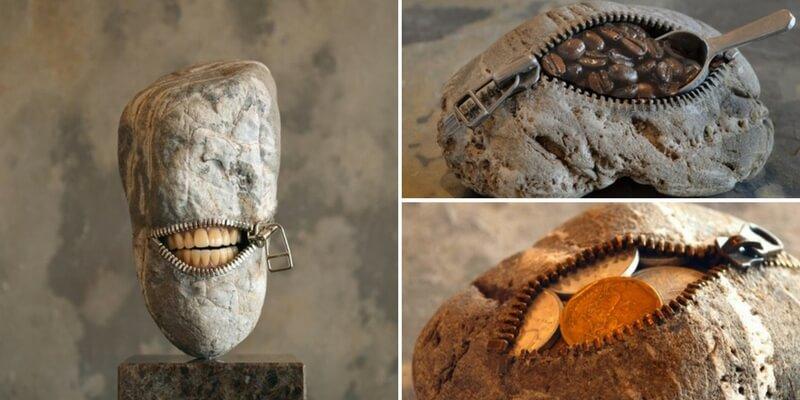 Le irriverenti sculture di pietra dell'artista Hirotoshi Ito