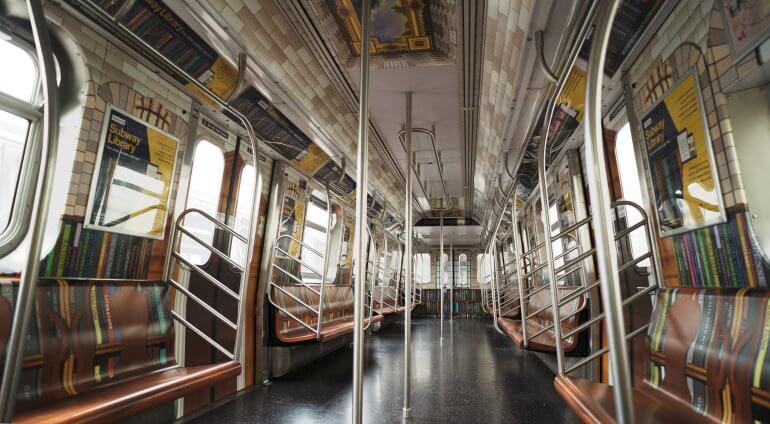 A New York la metropolitana si trasforma in biblioteca sotterranea