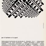 La Pubblicità con la P maiuscola | Pirelli per il turismo e lo sport, 1966 (agenzia Centro, design: Christiane Beylier)