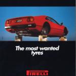 La Pubblicità con la P maiuscola | The most wanted tyres, pubblicità dei pneumatici Pirelli, Scandinavia, 1989