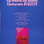 La Pubblicità con la P maiuscola | La Miura ha scelto cinturato Pirelli, 1970 (agenzia Centro, design François Robert, fotografia Gaston Jung)