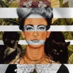 I mashup di Luigi Tarini | Luigi Tarini - Frida Kahlo's Self-Portrait with Thorn Necklace and Hummingbird and Joan Crawford