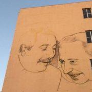 Murales dedicato a Falcone e Borsellino all'istituto Nautico di Palermo
