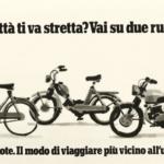 La Pubblicità con la P maiuscola | La città ti va stretta? Vai su due ruote, campagna pubblicitaria per l'Associazione Nazionale Ciclo Motociclo Accessori (agenzia Centro), bozzetto