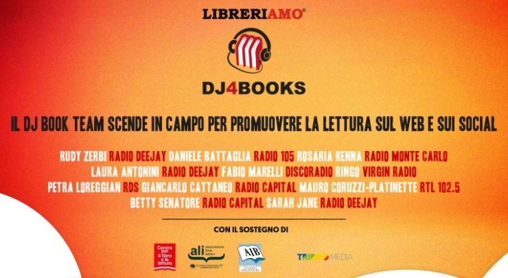 Il Dj Book Team scende in campo per promuovere la lettura sui social