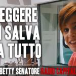 """Betty Senatore, """"Un libro ti salva da tutto"""""""