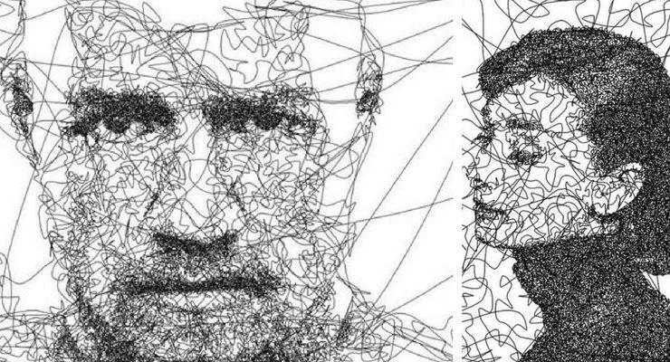 Piccoli ritratti disegnati da un robot