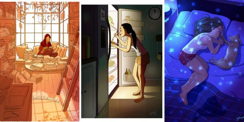 Yaoyao, l'artista che illustra la magia intima del vivere da soli