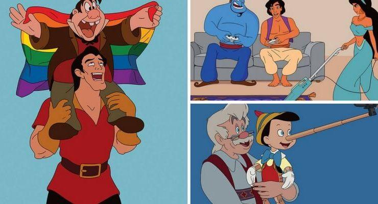 I personaggi Disney rivisitati in chiave moderna