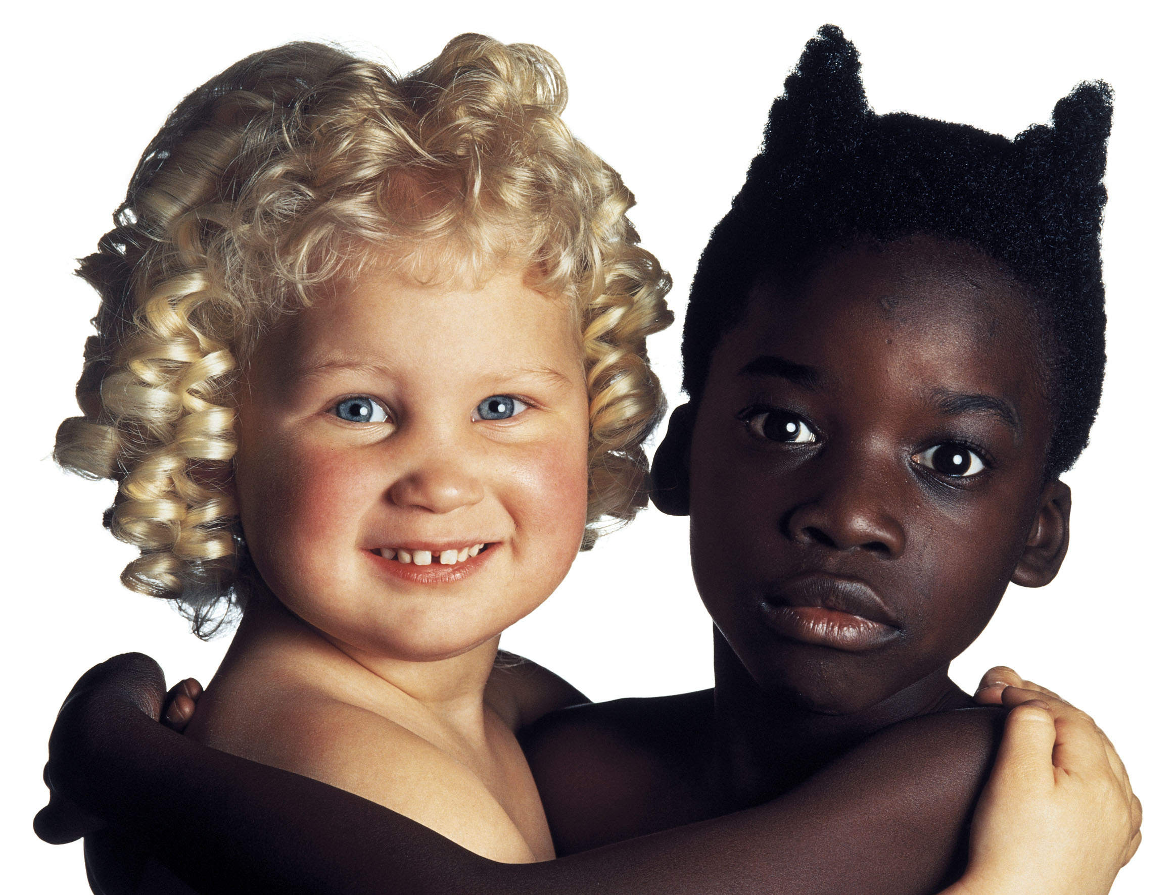 Oliviero Toscani, Angelo e Diavolo, United Colors of Benetton, 1992 © Studio Toscani