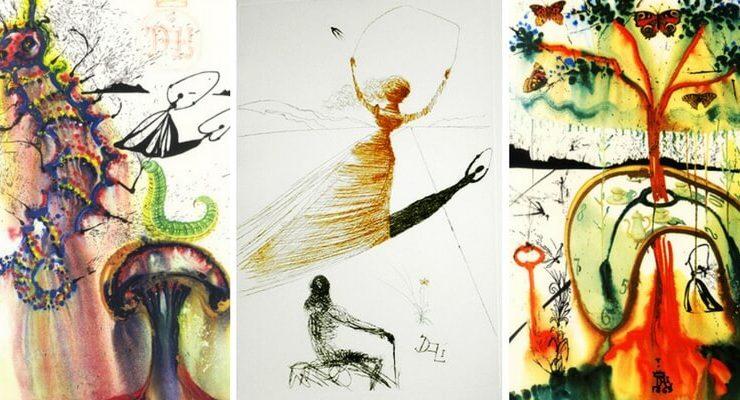 Le illustrazioni di Salvador Dalì dedicate ad Alice nel Paese delle Meraviglie