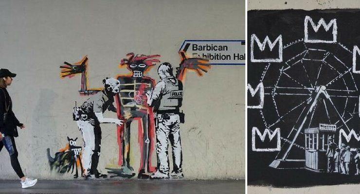 I due nuovi graffiti di Banksy omaggiano Basquiat