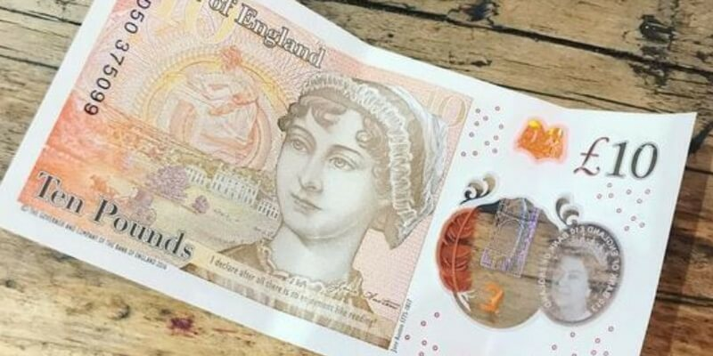 Le nuove 10 sterline con Jane Austen devolute in beneficenza