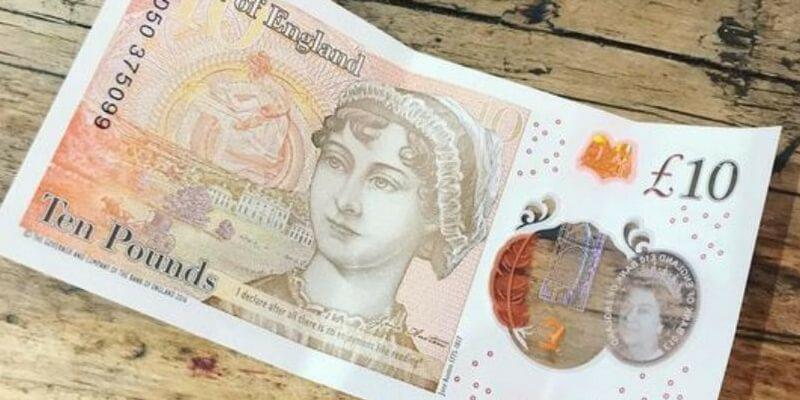 Le nuove 10 sterline con Jane Austen devolute in beneficenza