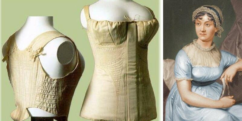 La biancheria utilizzata dalle donne nell'epoca di Jane Austen
